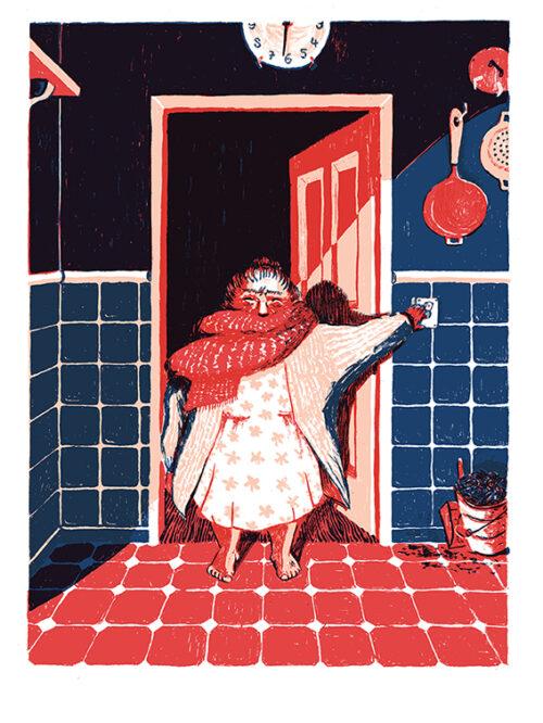 The Kitchen Clock – Book illustration